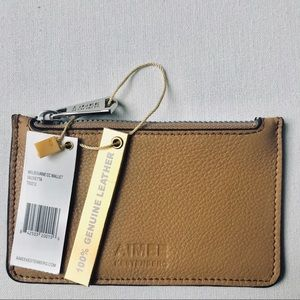 Aimee Kestenberg Leather Zip Coin Card Wallet